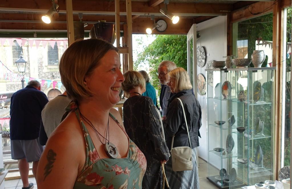 Exhibiting print maker, Melissa Alers Hankey in the Duff Gallery