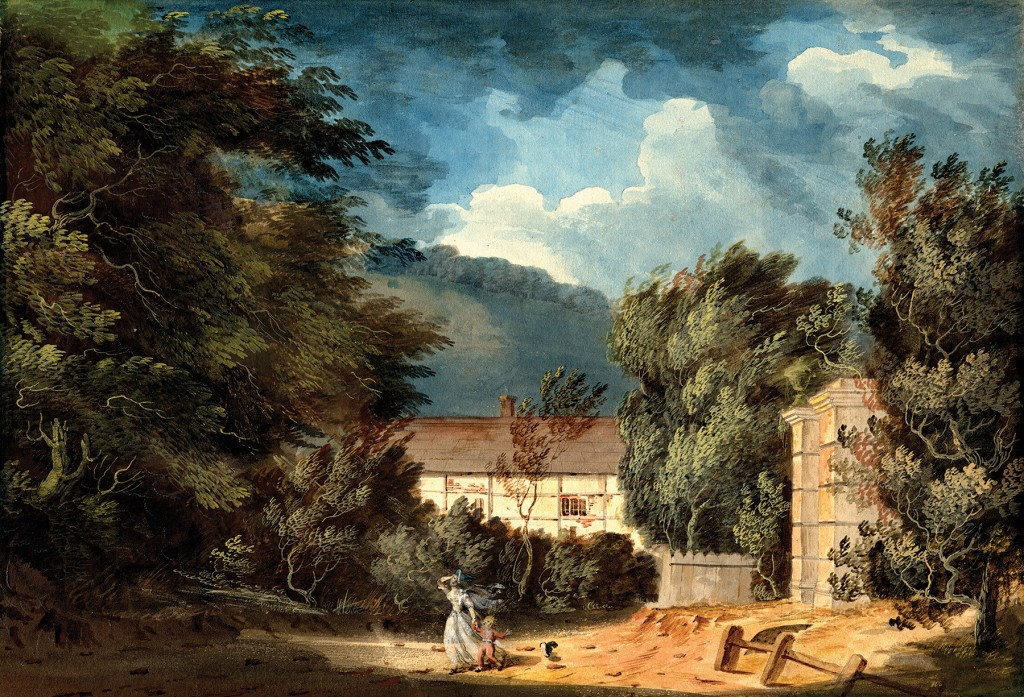 John Claude Nattes (c.1765-1839), Horsham on a windy day, 1792, Purchased with the aid of the aid of the V & A Purchase Fund and the Friends of Horsham Museum