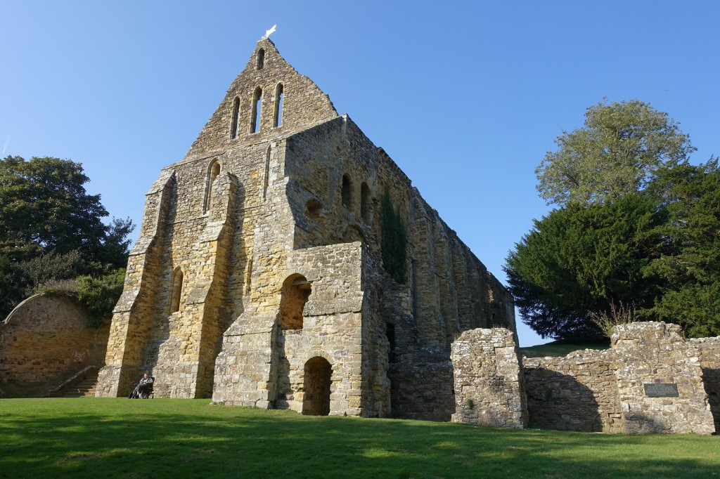 The ruins of Battle Abbey in Sussex