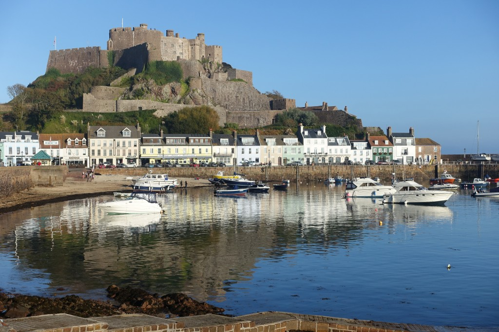 Gorey Castle in Jersey