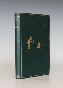 A first edition of 'Winnie-the-Pooh' published by Methuen & Co. Ltd in 1926