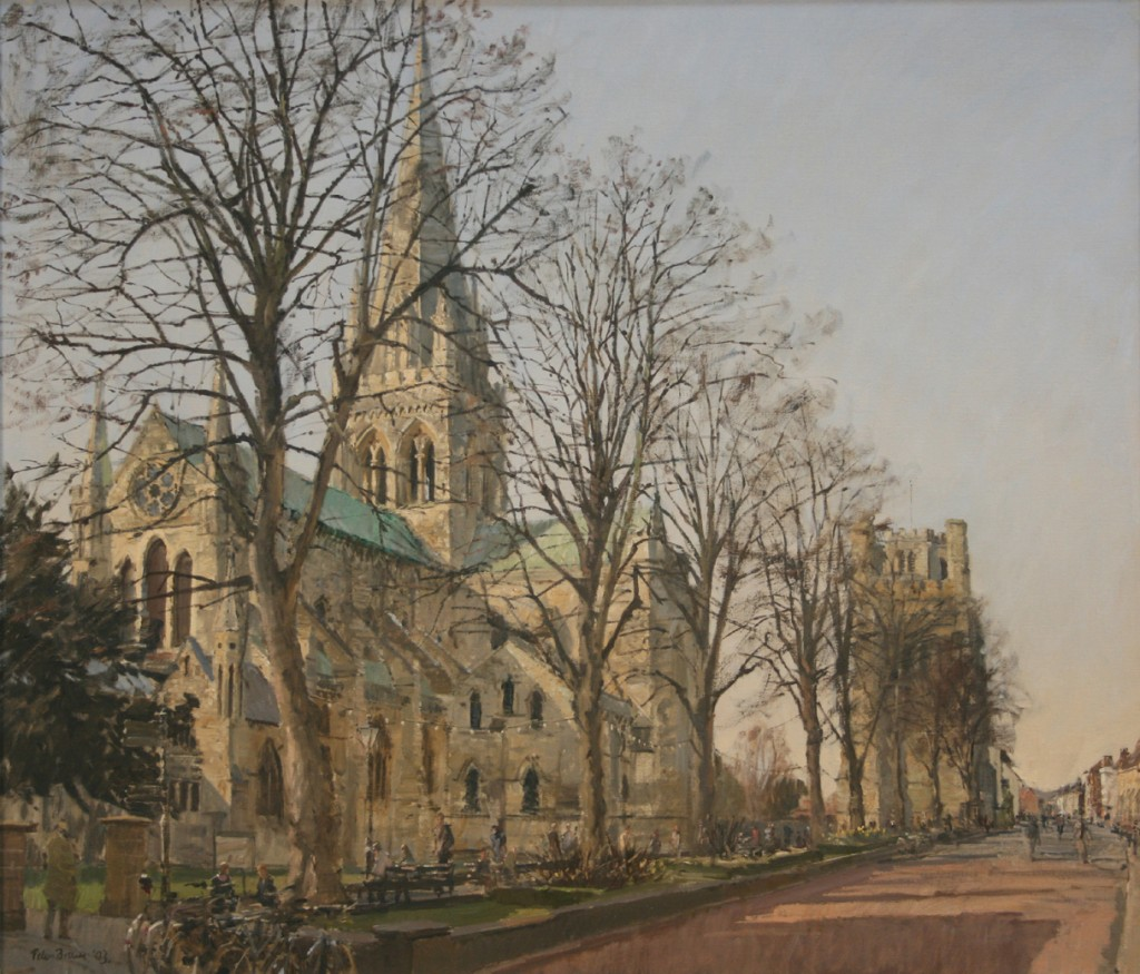Peter Brown – 'View of Chichester Cathedral', oil on canvas, signed and dated 2003