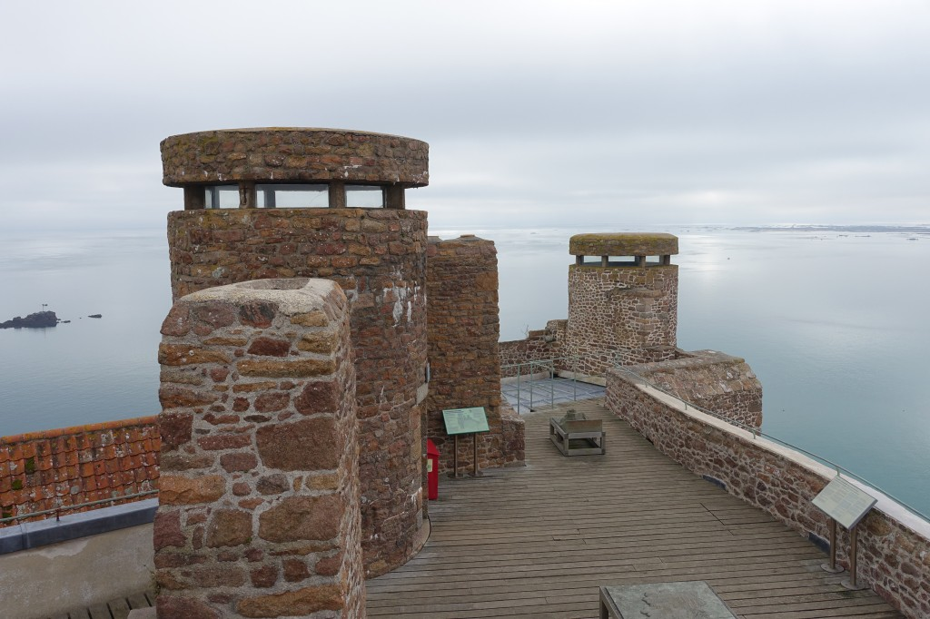 German army observation turrets at Gorey Castle