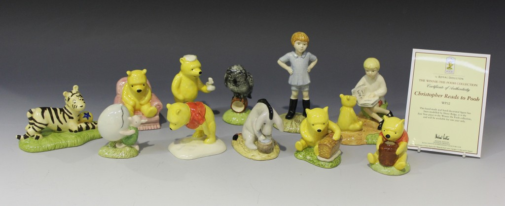 A collection of Winnie-the-Pooh and friends Royal Doulton figures