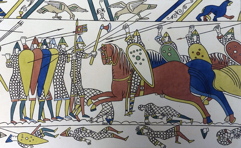 A scene taken from the Bayeux tapestry