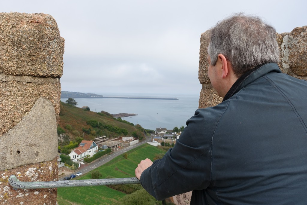 Looking East from the battlements of Gorey Castle to France