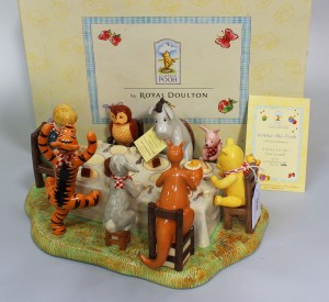 A Royal Doulton 'Winnie-the-Pooh' figure group 'A Party For Me? How Grand!'