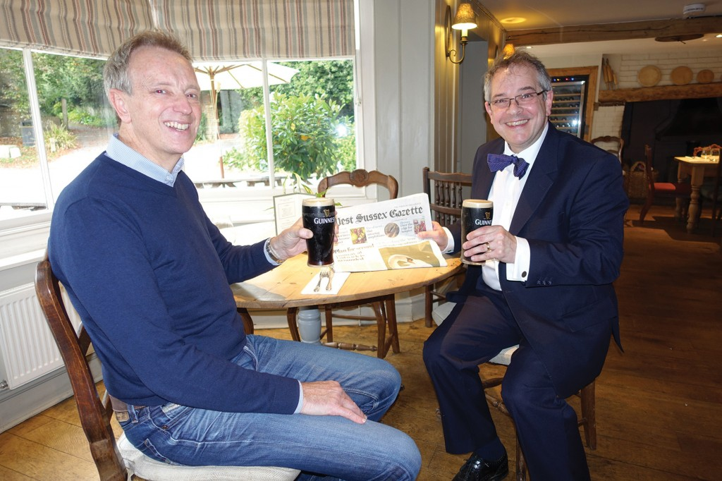 Simon Lay and Rupert Toovey at The George at Burpham