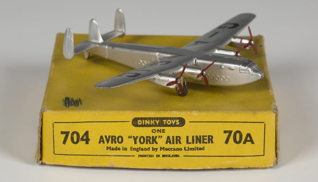A Dinky Toys No. 704 Avro York air liner 'G-AGJC'