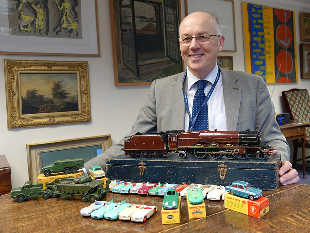 Toovey's toy specialist, Chris Gale, with some of his favourite recent discoveries