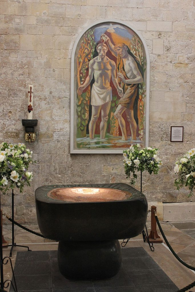 Hans Feibusch - Baptism of Christ, c. 1951, Chichester Cathedral, © 2012 Rupert Toovey