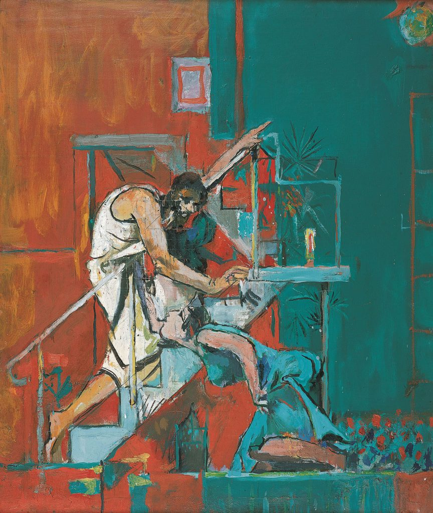 Graham Sutherland, Christ Appearing to Mary Magdalene (Noli Me Tangere), 1961, oil on canvas, Pallant House Gallery (Hussey Bequest, Chichester District Council, 1985) © The Estate of the Artist