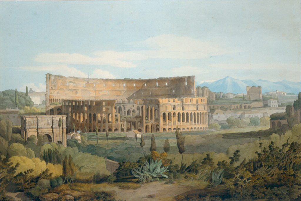 Francis Towne 'The Colosseum from the Caelian Hills', c.1799 © National Trust
