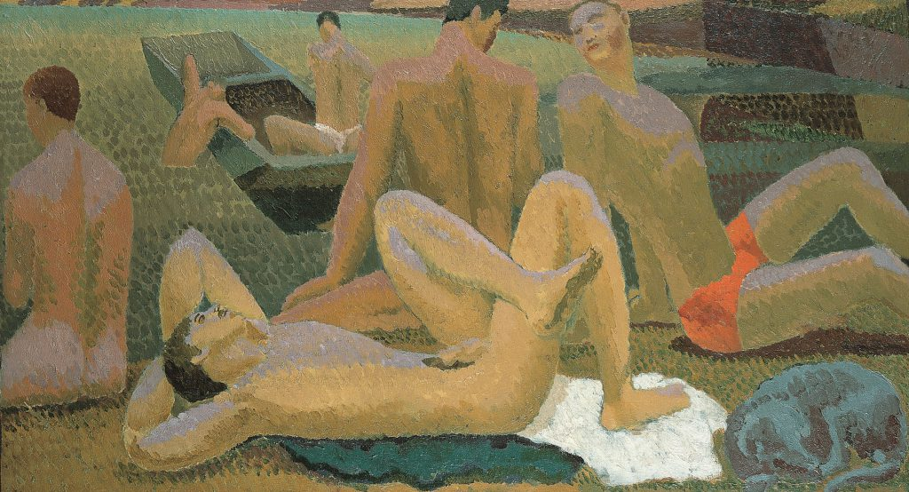 Duncan Grant, Bathers by the Pond, c1920-21, oil on canvas, Pallant House Gallery (Hussey Bequest, Chichester District Council, 1985) © 1978 Estate of Duncan Grant, courtesy Henrietta Garnett