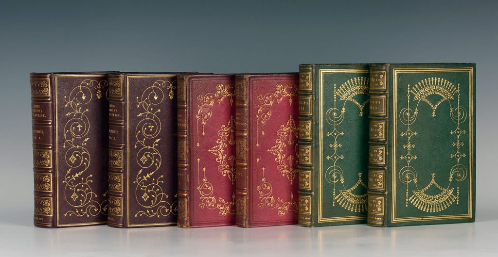 Selection of fine leather-bound books sold in our specialist book auction in October 2016