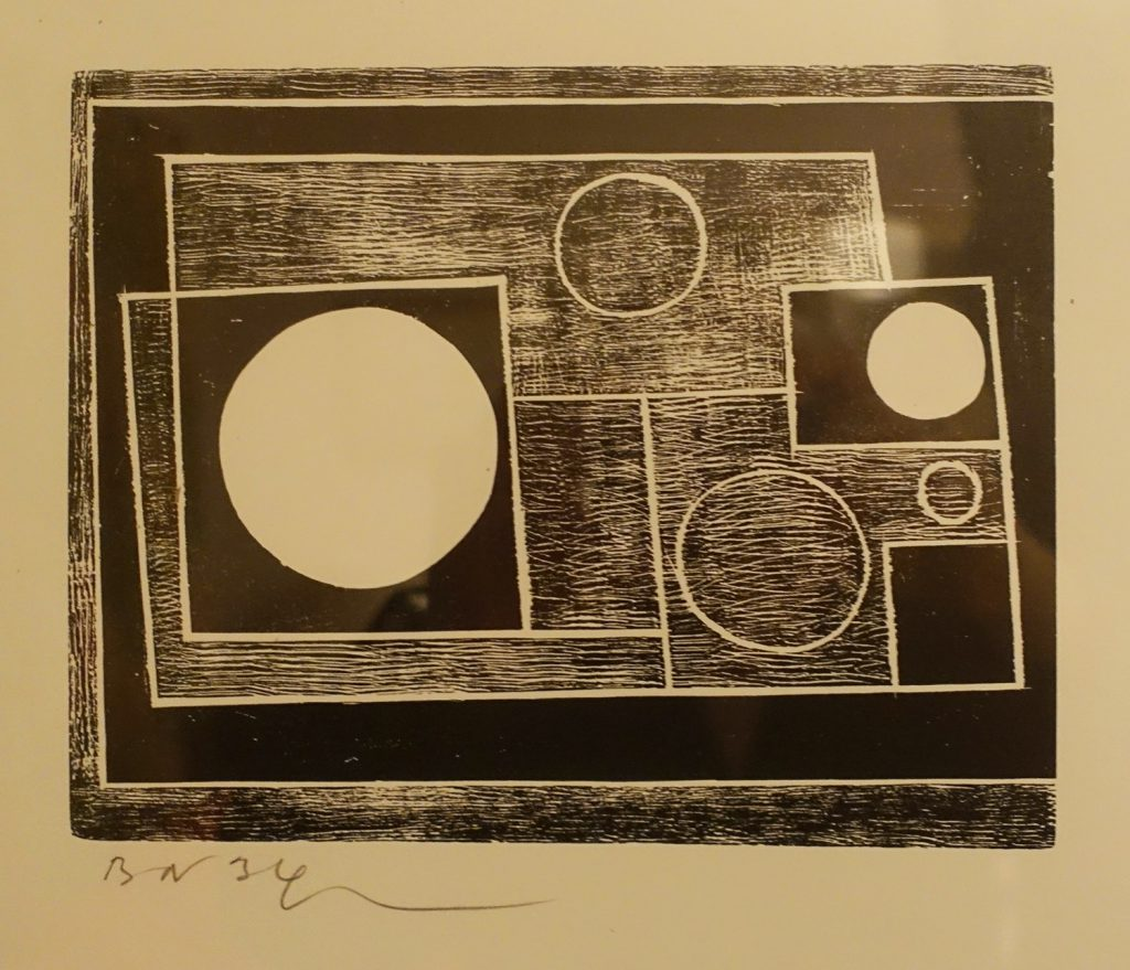 Ben Nicholson, '5 Circles', c.1934, woodcut on paper, (Private collection)