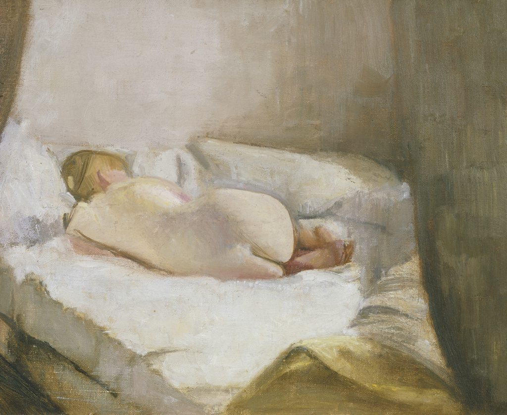 Victor Pasmore, Reclining Nude, c.1942, oil, Tate. Presented by the Contemporary Art Society 1951 © Tate, London 2015