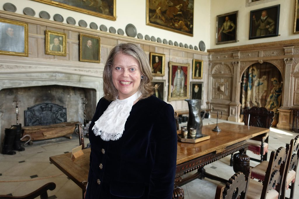 The High Sheriff of West Sussex, Lady Emma Barnard, in the Great Hall at Parham
