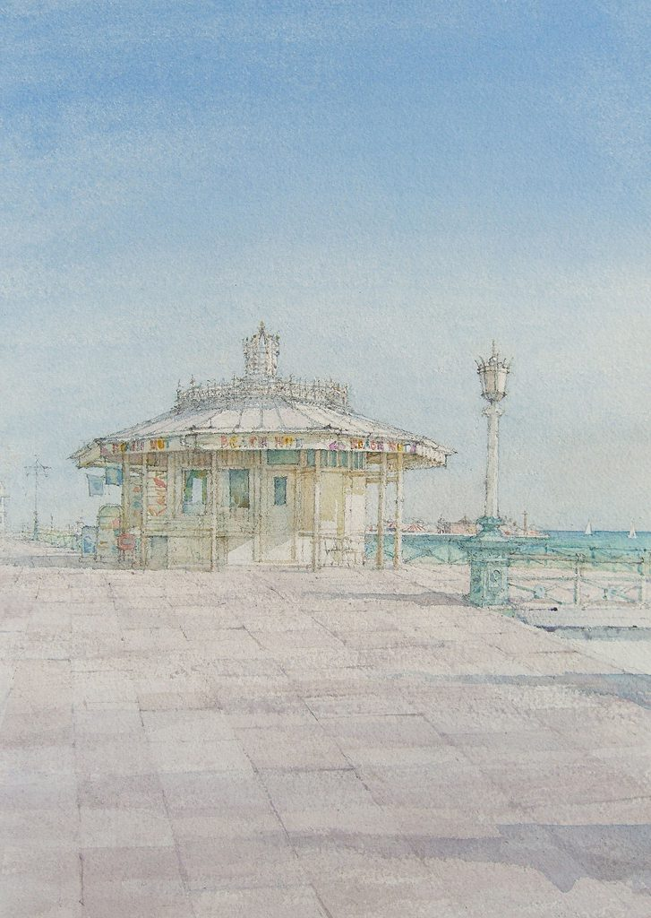 Dennis Roxby Bott 'The Kiosk, Hove', watercolour