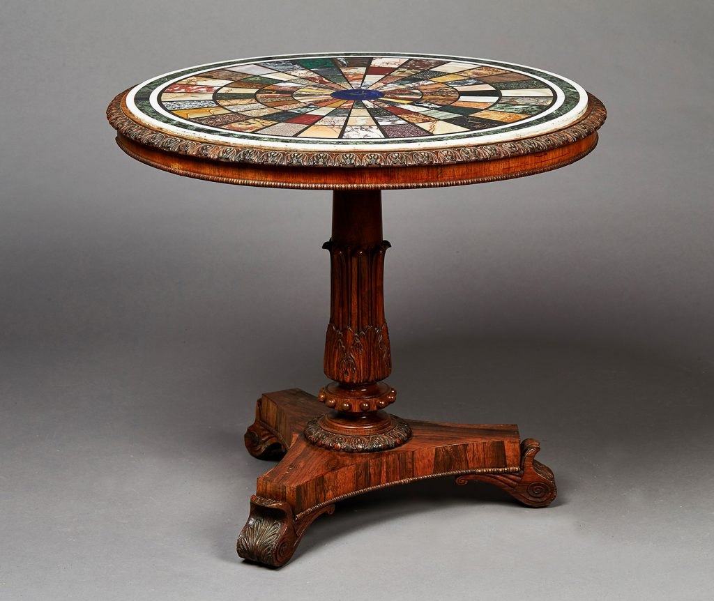 A Gillows of Lancaster Neo-classical specimen marble centre-table