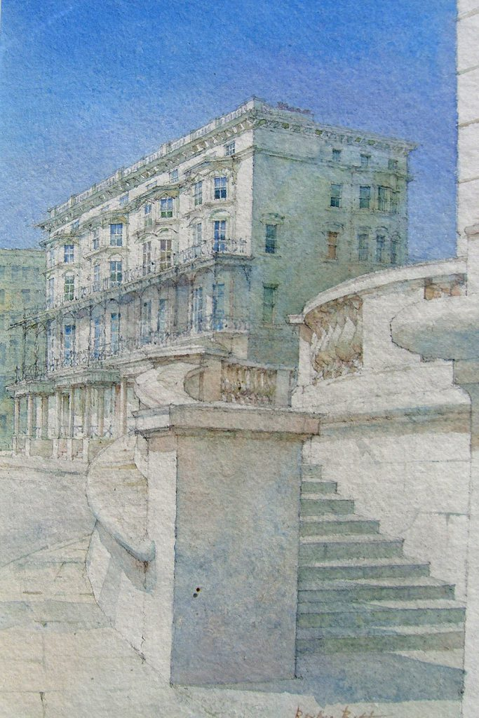 Dennis Roxby Bott 'The Steps, Hove', watercolour