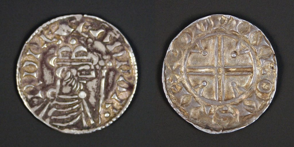 A Saxon penny from the Steyning mint, struck in the reign of Edward the Confessor (1042-1066)