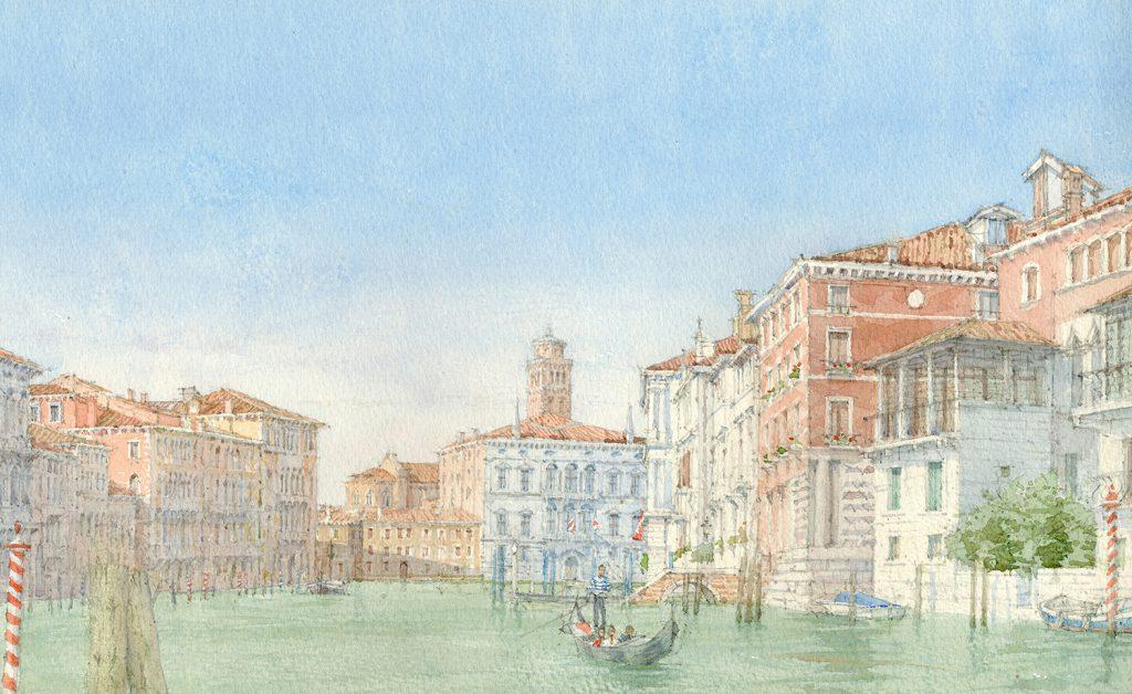 Dennis Roxby Bott 'Venice', watercolour