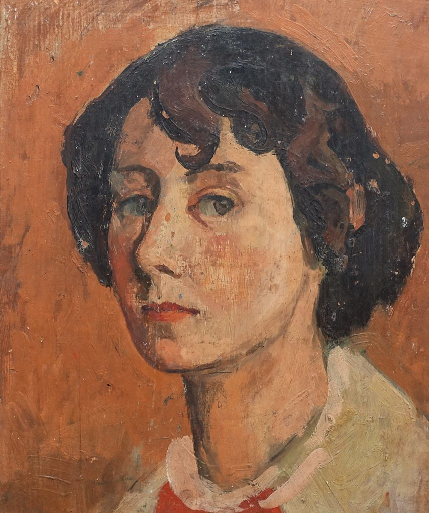 Martina Thomas (1924-95), Self-portrait, oil, c.1948, © the artist's family