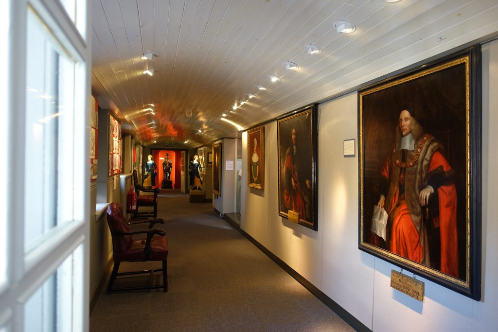 The interior of Christ's Hospital School's museum