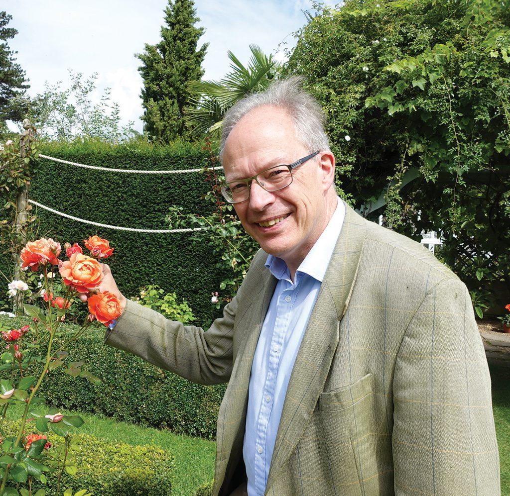 Andrewjohn Stephenson Clarke in the Rose Garden at Borde Hill