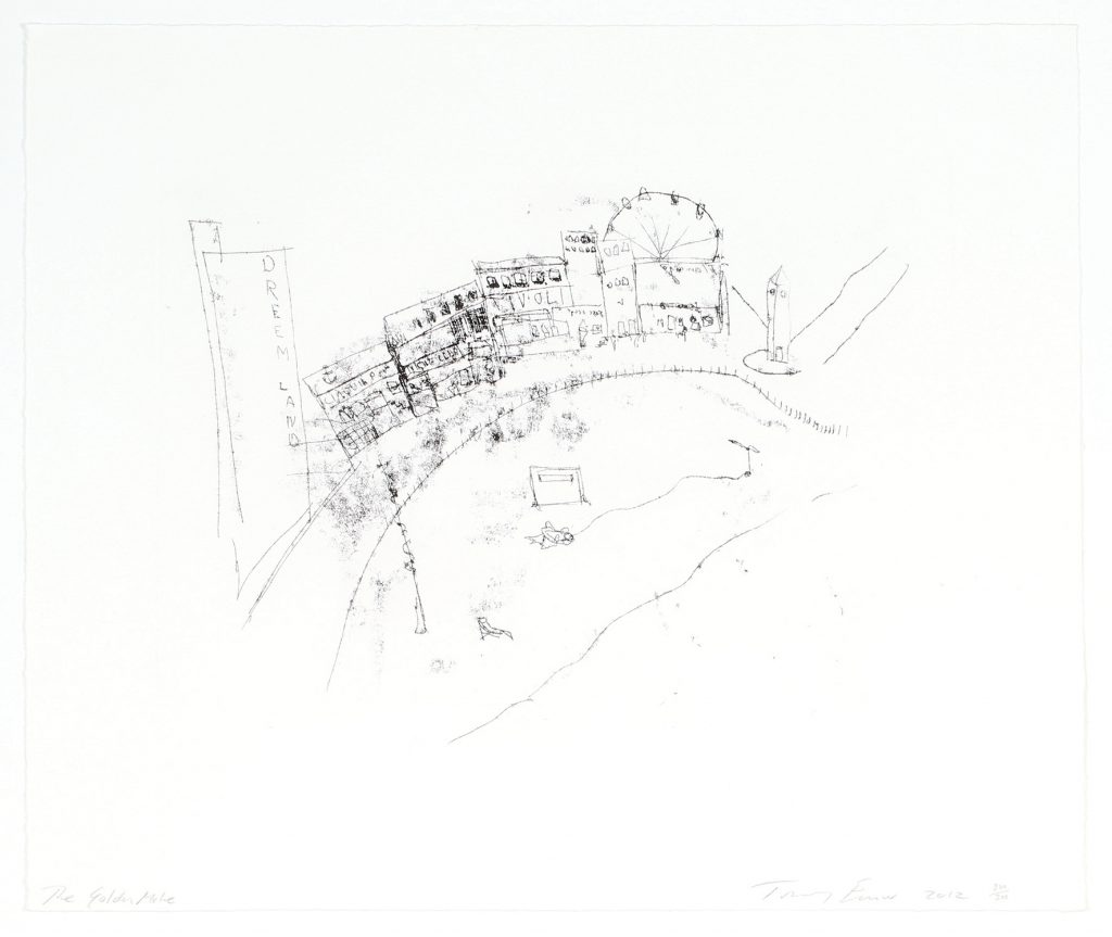 Tracy Emin's etching 'The Golden Mile' from 2012