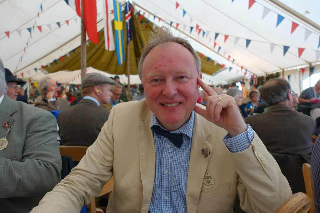 Shipley Arts Festival Director and motor racing enthusiast Andrew Bernardi