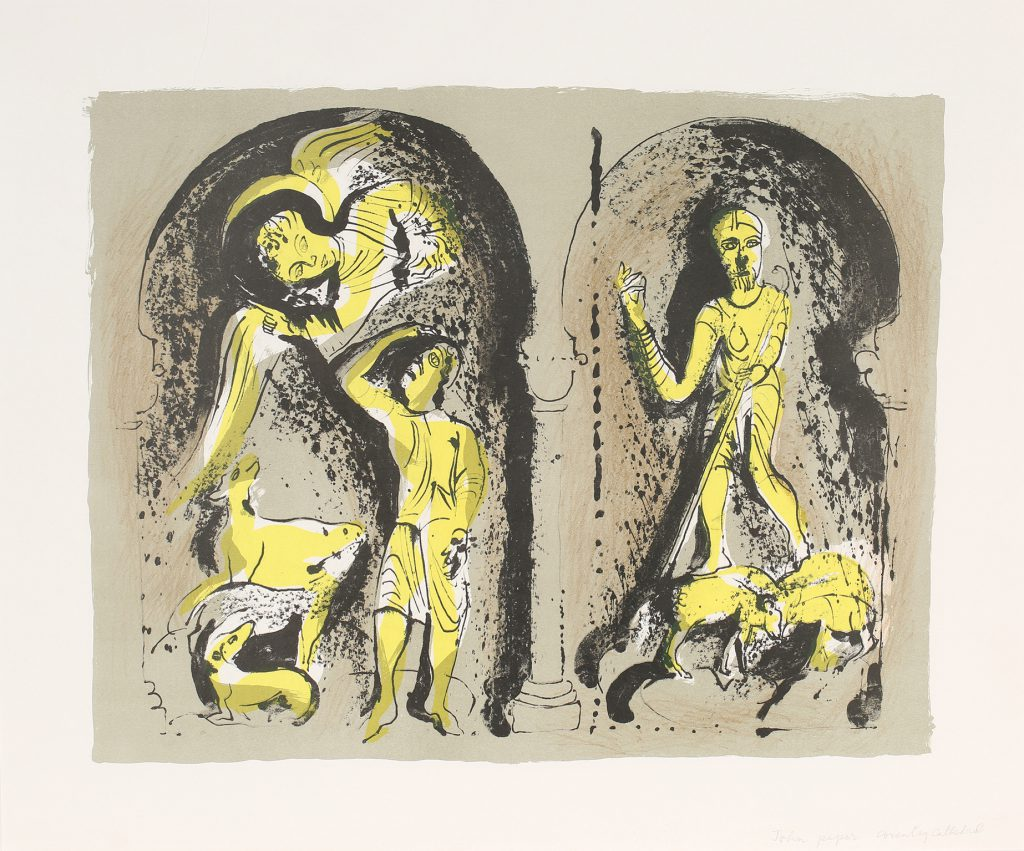 John Piper's lithograph 'The Annunciation to the Shepherds' printed in 1973