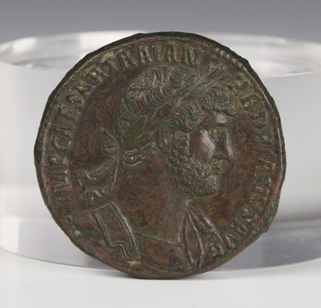A Roman Empire Hadrian (117-138AD) sestertius, the reverse with Ceres standing left, holding corn ears and a long torch