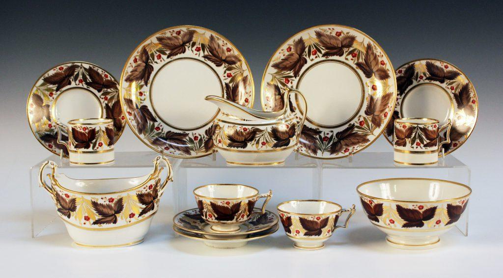 A Flight Barr & Barr Worcester porcelain part tea and coffee service, circa 1820