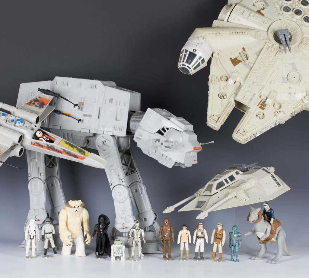 A fine collection of: Star Wars, The Empire Strikes Back and Return of the Jedi action figures, vehicles and accessories, including Palitoy