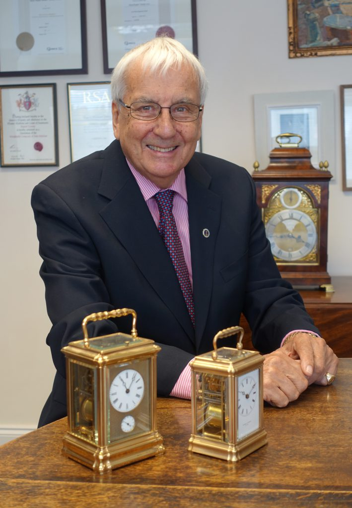 Antiquarian, clock specialist and horologist, Brian Baskerville