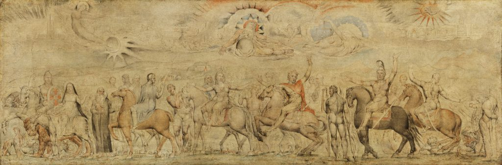 William Blake's 'The Characters in Spenser's Faerie Queene', circa 1825 © Petworth House, National Trust