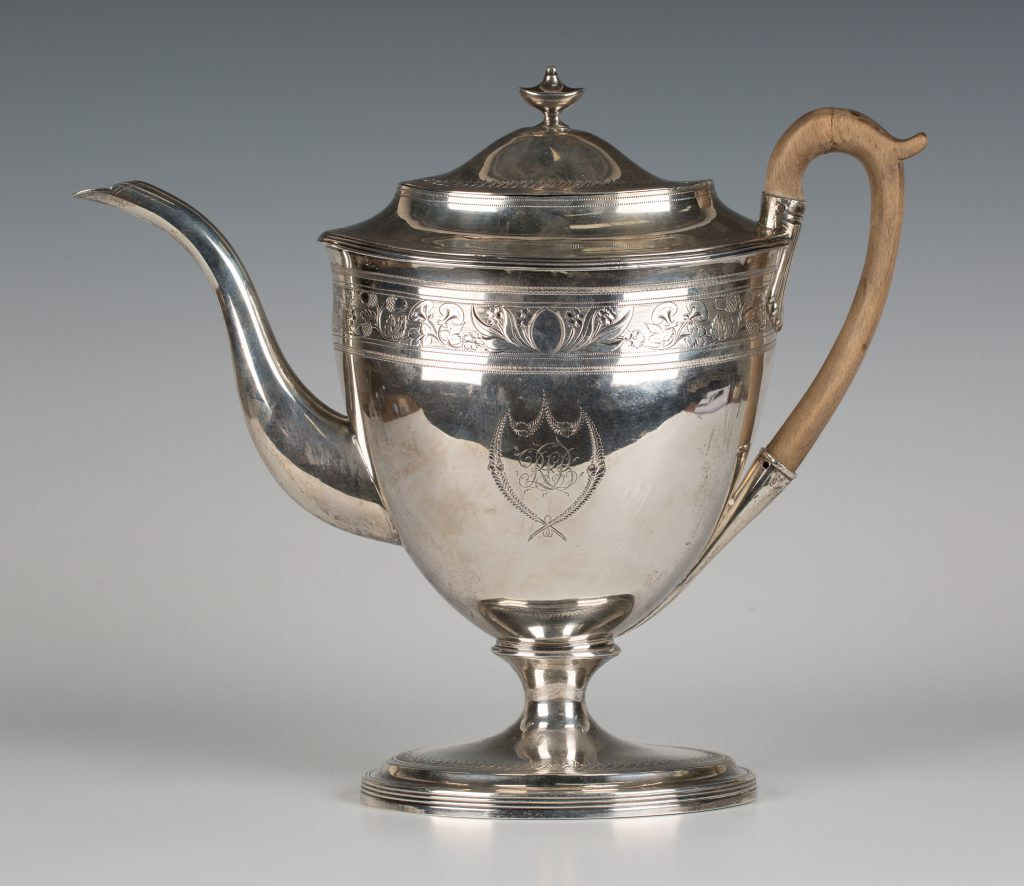 A George III silver coffee pot, London 1800 by Robert Hennell I & David Hennell II