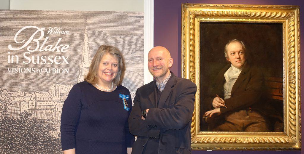 The High Sheriff of West Sussex, Lady Emma Barnard, with Andrew Loukes at Petworth House