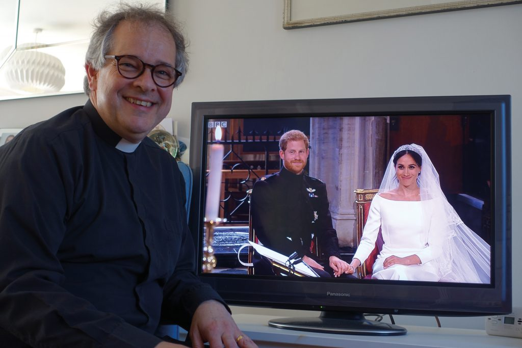 The Revd. Rupert Toovey watching the marriage of the Duke and Duchess of Sussex