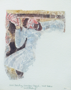 Gordon Rushmer's detail of an 11th century fresco at Coombes