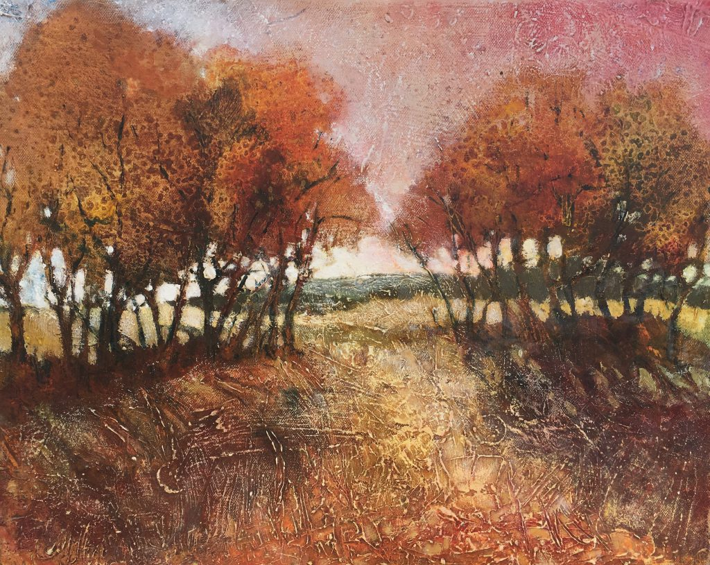 Looking towards the Downs by Alison Milner-Gulland