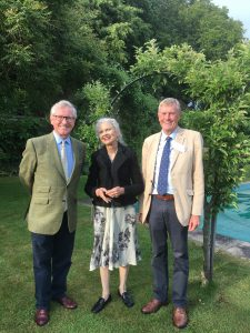 Simon Knight and John Godfrey of the Sussex Heritage Trust with Lady Collum