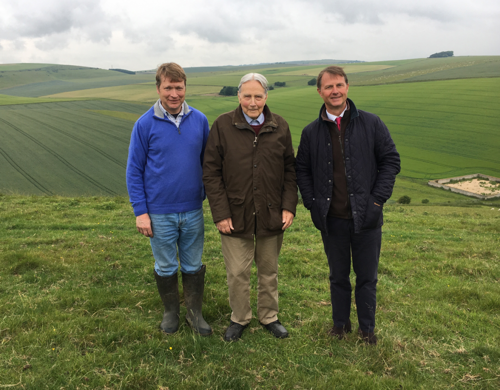 Hugh and Christopher Passmore at Applesham Farm with Rowan Allan