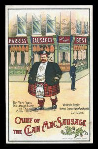 Vintage Advertising Postcard for Harris's Sausages